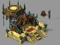 xiqiao city - podium 3D model