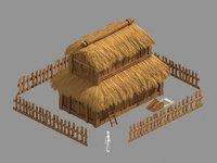 3D rural architecture - house model