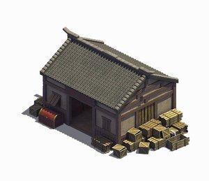 3D model small - warehouse 02