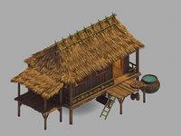 crescent - chalet 056 3D model