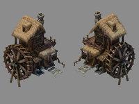 3D newcomer farm - waterwheel model