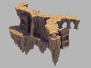 heavenly gate - mountain 3D model