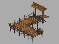 3D crescent - wooden bridge