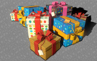 ready birthday gifts 3D model