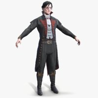 Victorian Vampire Lowpoly