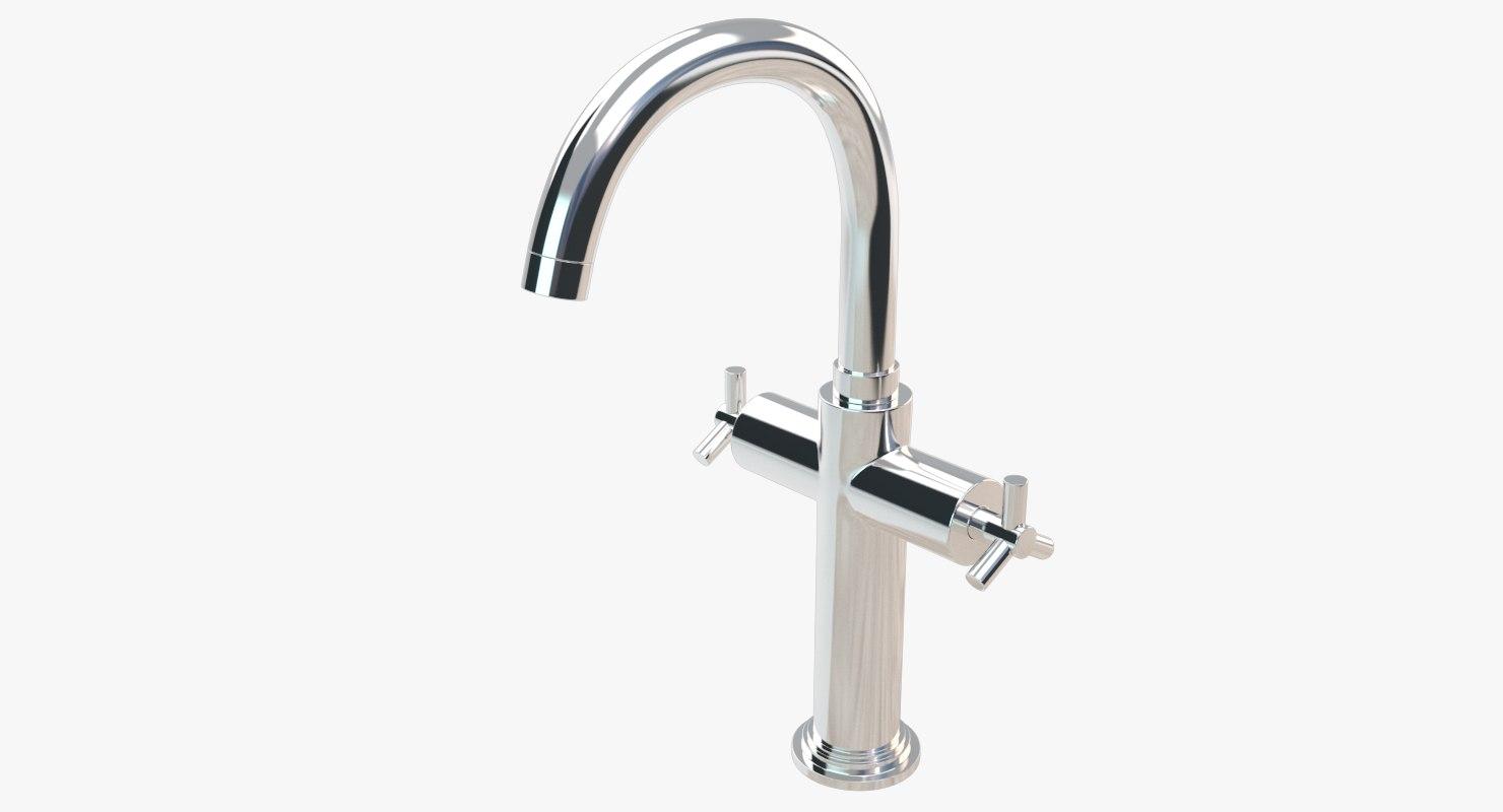 3D bathroom faucet model