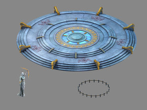 moon city - platform 3D model