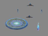 moon city - shop 3D model