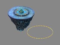 3D model moon city - platform