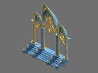 moon city - gate 3D model