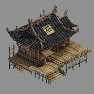 3D model field building - tea