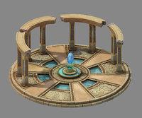 moon city - pool 3D model