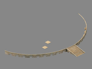 moon city - embankment 3D model