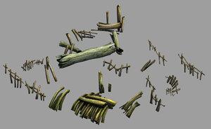 3D field - riverside wood