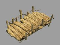 3D field - wooden bridge