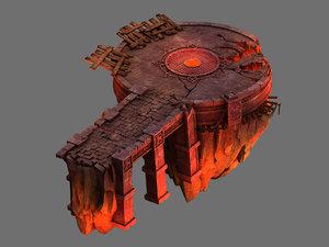 3D magma rift - platform model