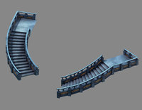 3D model moon city - stairs