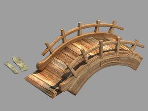3D field - wooden bridge model
