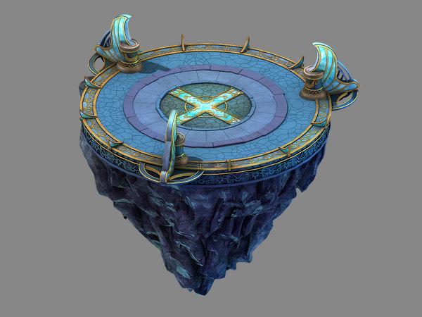 3D moon city - platform model