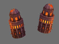 magma rift - leaning tower 3D
