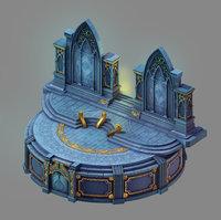 3D moon city - temple