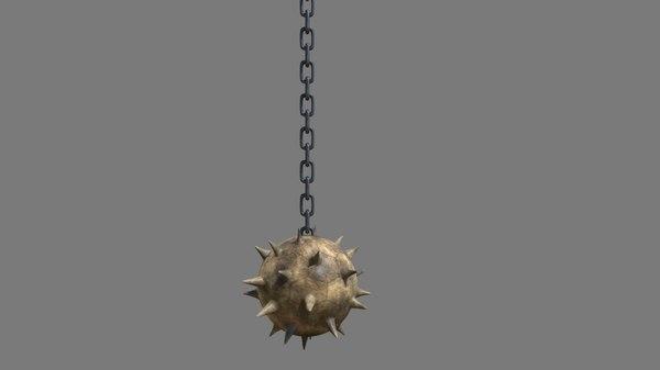 chain ball weapon 3D