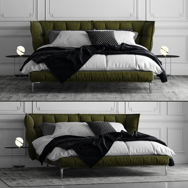 b italia husk bed 3D