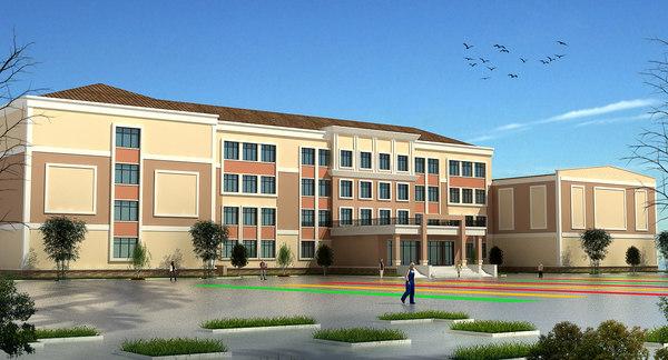 school building set 3D model