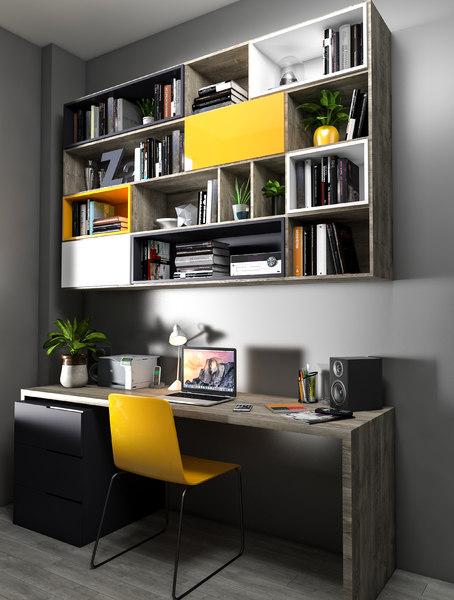 work desk 3D model