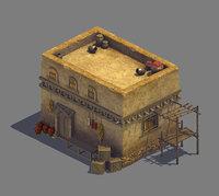 3D model demon club - house