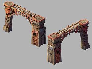 steam port - gate 3D