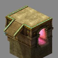 3D funeral land - platform