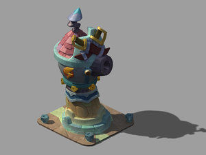 combat tower normal state 3D