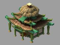 3D town house - main