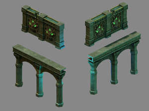 3D model funeral place - wall