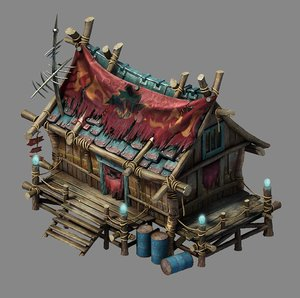 steam harbour - campground 3D model