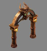 funeral place - stone arch 3D model