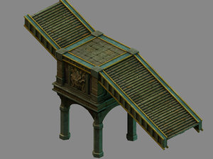 funeral place - stairs 3D model