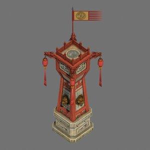 3D model war building - command