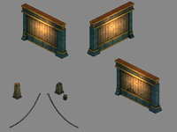 3D funeral place - wall