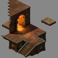 funeral place - door 3D model