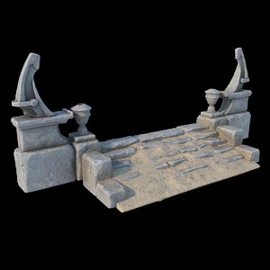3D fantasy stone stairs ver2