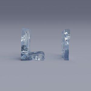 letter l 3D model