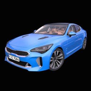 3D generic 4-door fastback model