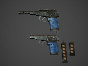 makarov pistols 3D model