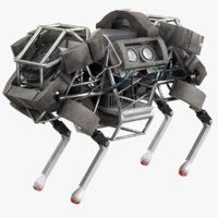 wildcat robot horse boston 3D model