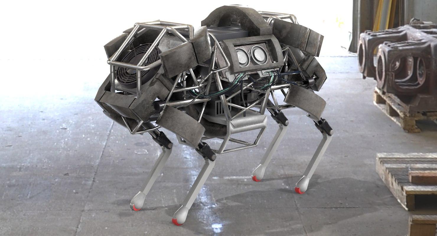 wildcat robot horse boston 3D model