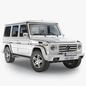 mercedes-benz gelandewagen g-class white 3D model