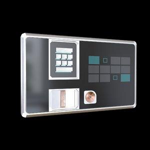 3D sci fi comand panel model