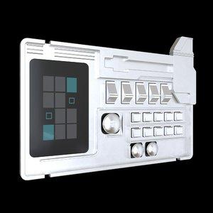 sci fi comand panel 3D